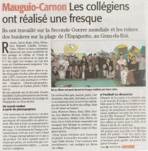 Article du Midi Libre sur la Fresque